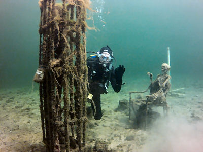Kingman wash dive report new deep multilevel divers for Fishing lake mead from shore